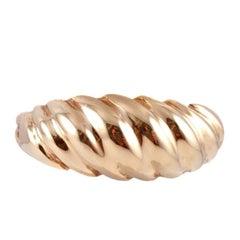 Yellow Gold Swirl Ring