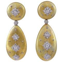 M. Buccellati Diamond Gold Earrings