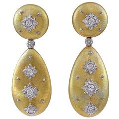 M. Buccellati Diamond Gold Earrings