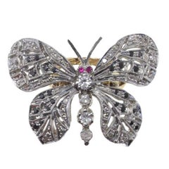 Sapphire Ruby Diamond Silver Gold Ring