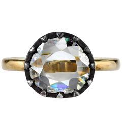 1.53 Carat Old Rose Cut Diamond Engagement Ring