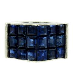 Van Cleef & Arpels Burma no heat Sapphire Platinum Ring