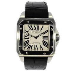 Cartier Stainless Steel Santos 100 Automatic Wristwatch Ref 2656