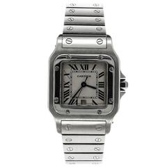 Cartier Stainless Steel Santos Quartz Wristwatch Ref 1564