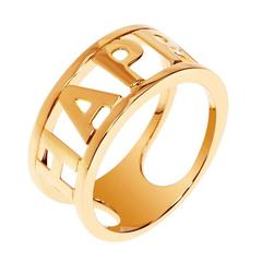 """18 Carat Rose Gold Only You """"Happy"""" Stackable Ring"""