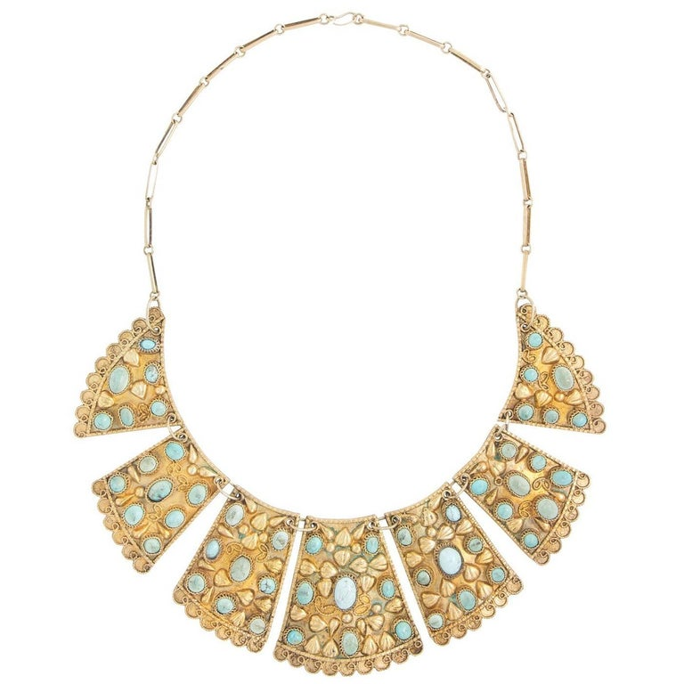 1920s Persian Bib Necklace