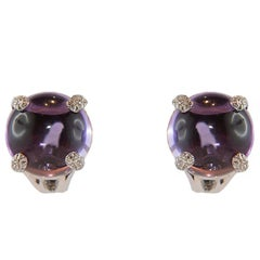 Amethyst White Gold Earrings