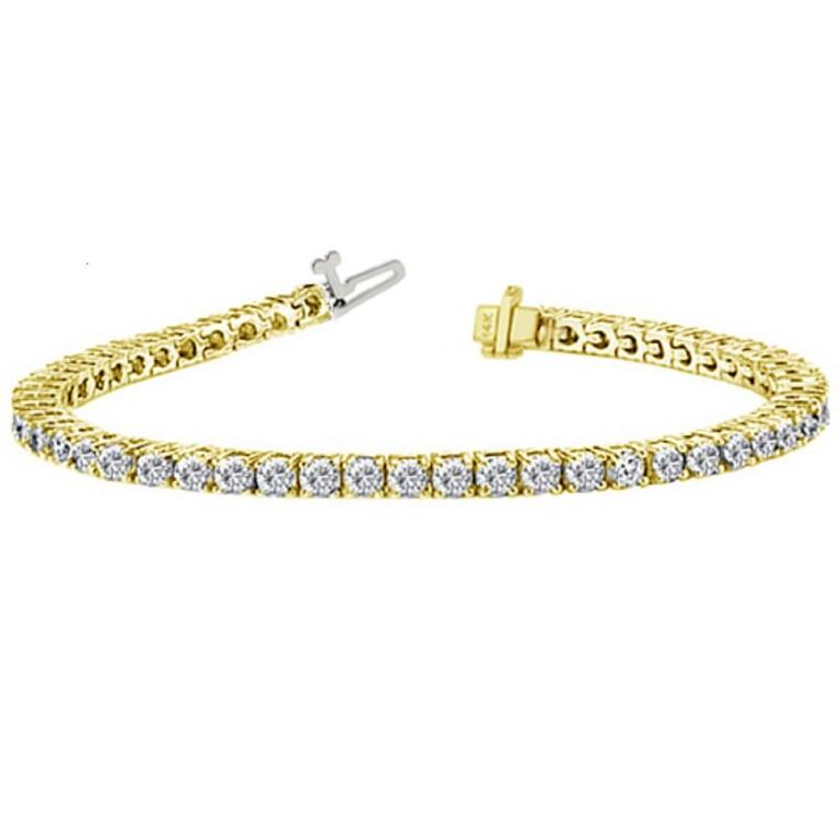 10.00 Carat Diamonds Gold Tennis Bracelet For Sale