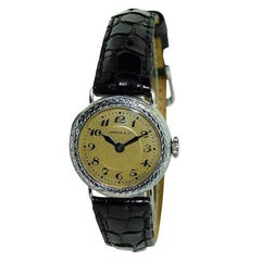 Longines Watch Company for Shreve & Co. Ladies White Gold Ladies Wristwatch