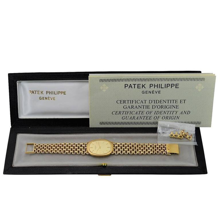 Patek Philippe Yellow Gold Bracelet Manual Winding Dress Watch