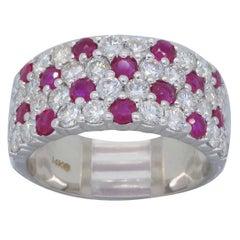 Diamond Ruby Band Ring