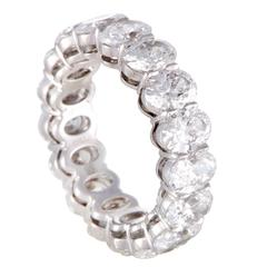 Harry Winston Diamond  Platinum Eternity Band Ring