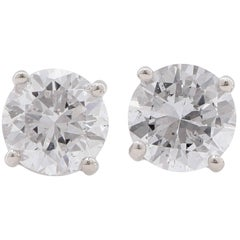 1.2 Carat Total Weight Diamond Stud Earrings