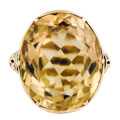 Antique circa 1900 14 Karat Yellow Gold Ring
