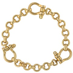 Hermes 18 Karat Gold Equestrian Link Bracelet