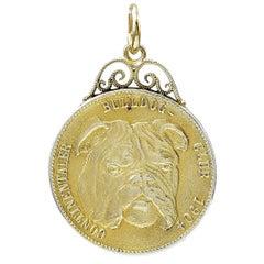 Gold Bulldog Charm/Pendant