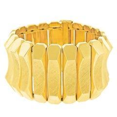 Spectacular Mod 1960s Gold Bracelet