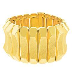 J. Fuset Wide Gold Bracelet
