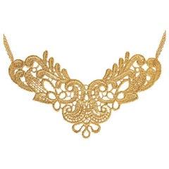 Gold Vermeil Lace Large Neckpiece