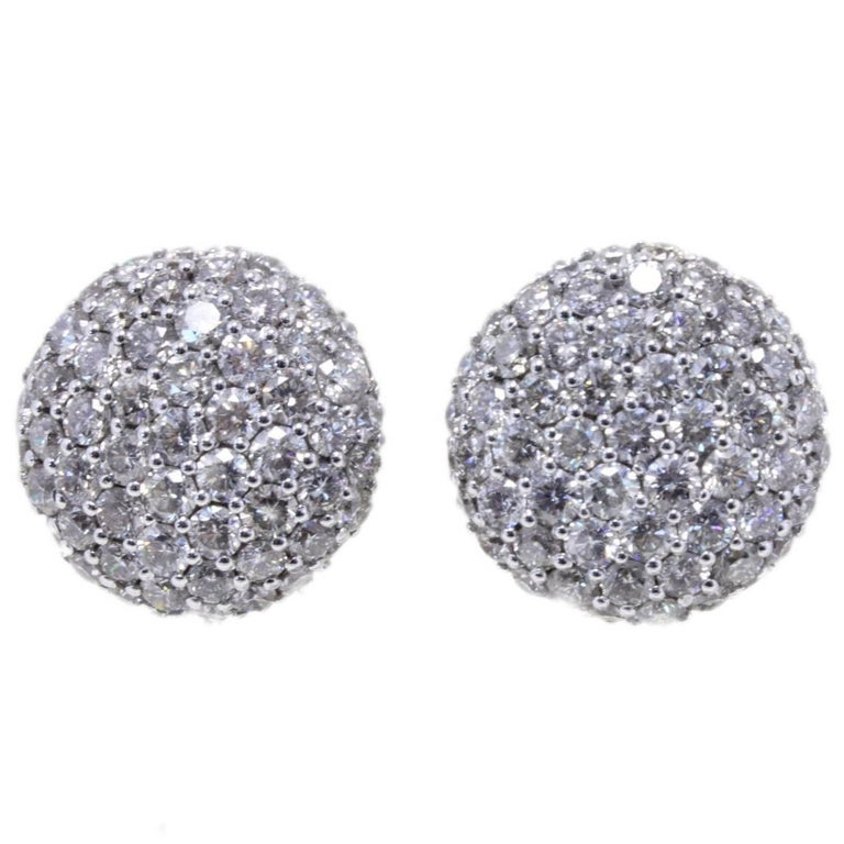Diamond Stud Gold Earrings