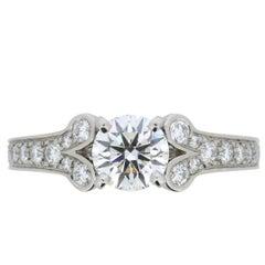 Cartier 'Ballerine' 1.06 Carat Round Brilliant Cut Diamond Engagement Ring