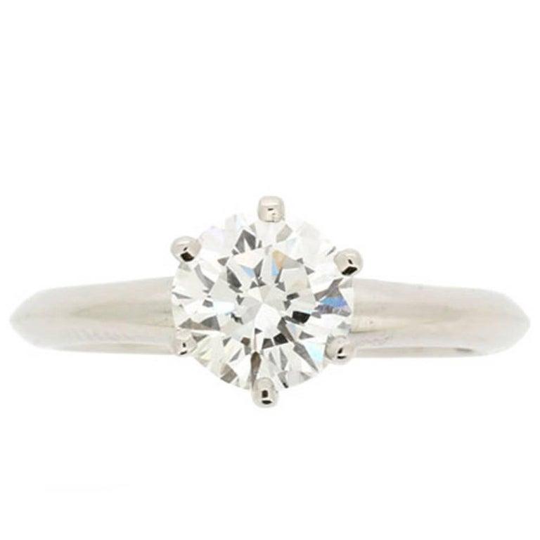 Tiffany & Co. 1.05 Carat Round Brilliant Cut Diamond Solitaire Engagement Ring