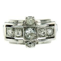 Art Deco Diamond Gold Ring