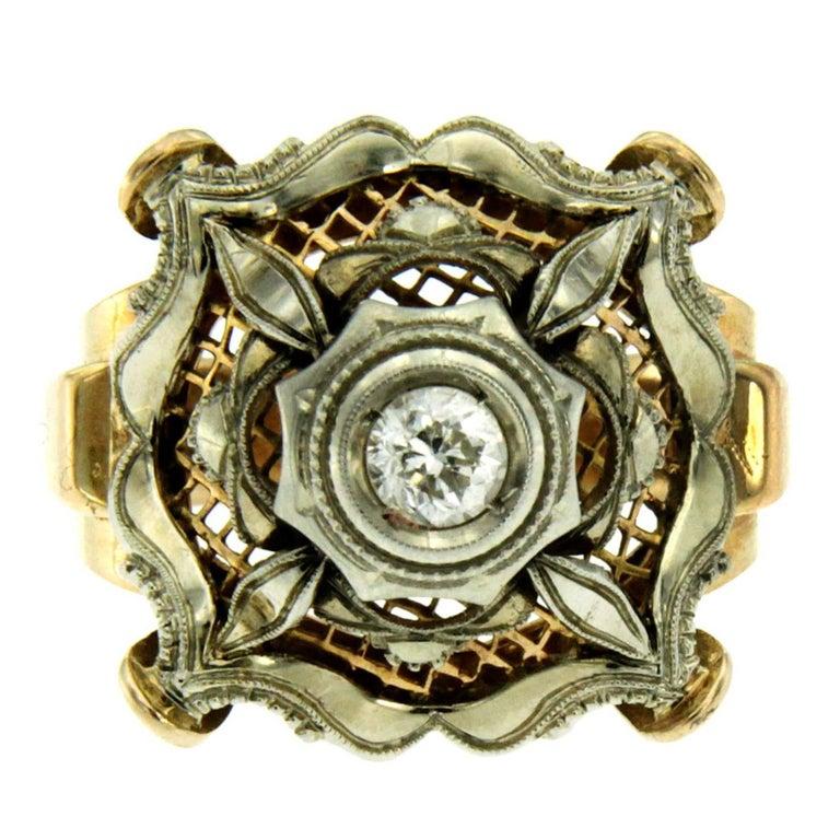 Bourbon Diamond Gold Ring
