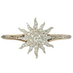 Diamond Starburst Bangle Bracelet