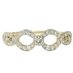 Victorian Diamond Bangle Bracelet