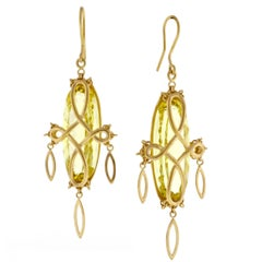 Anthony Nak Prasiolite Gold Earrings