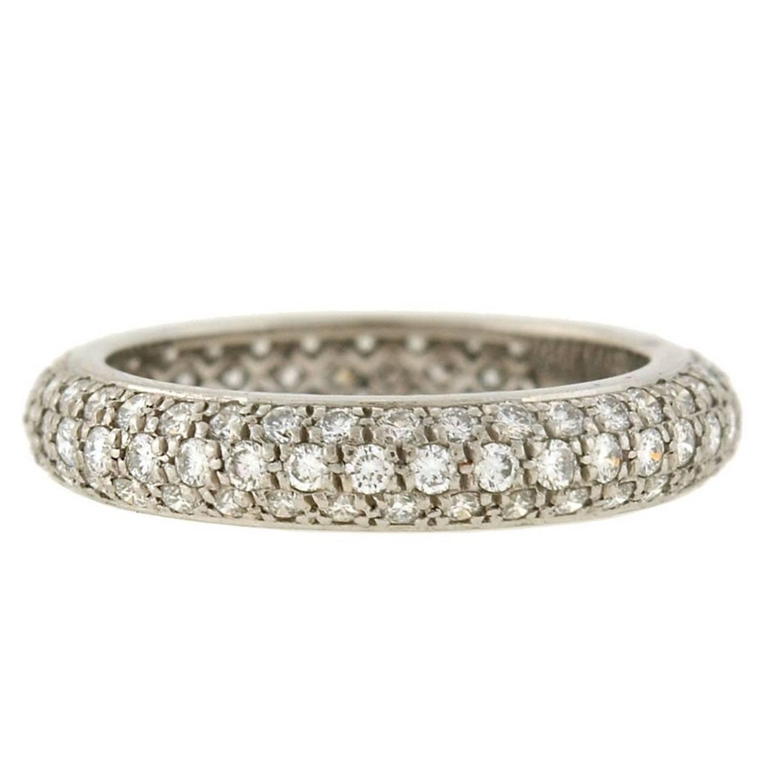 cartier french 1 50 carats pavà diamond eternity band for sale at