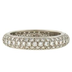 Cartier French 1.50 Carats Pavé Diamond Eternity Band