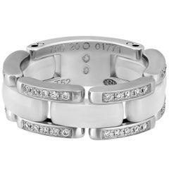 Chanel  Ceramic Diamond White Gold Ring