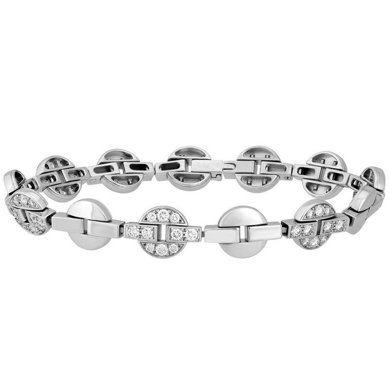 Cartier Diamond White Gold Bracelet
