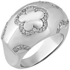 Chanel  Camelia Diamond Dome Ring
