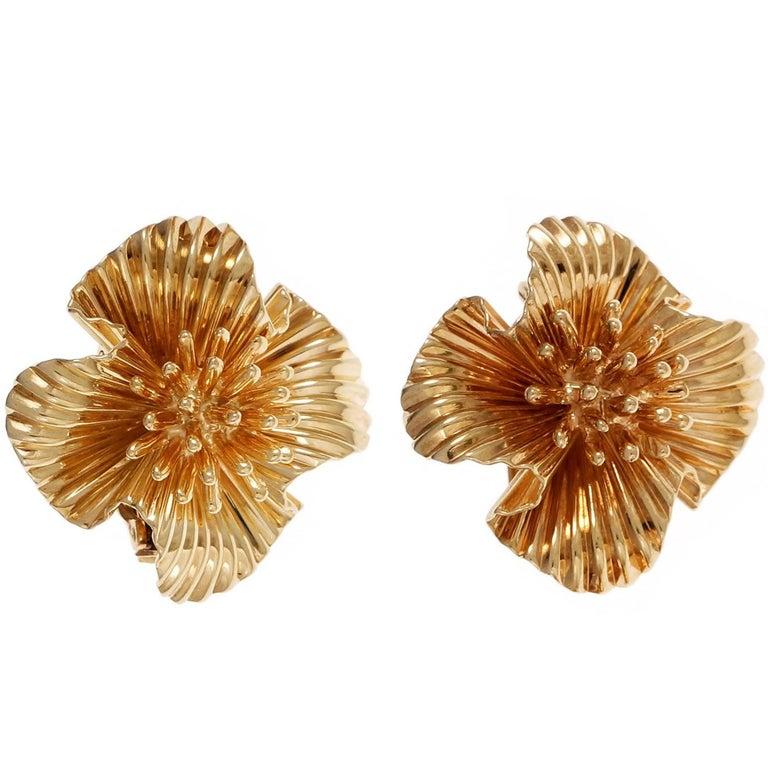 Tiffany & Co.  Gold Clip Post Earrings