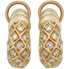 Cartier 18 Karat Yellow Gold Diamond Earrings