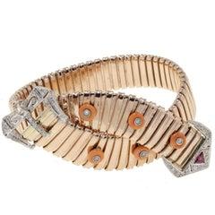 Luise Gold Coral Diamond Bracelet