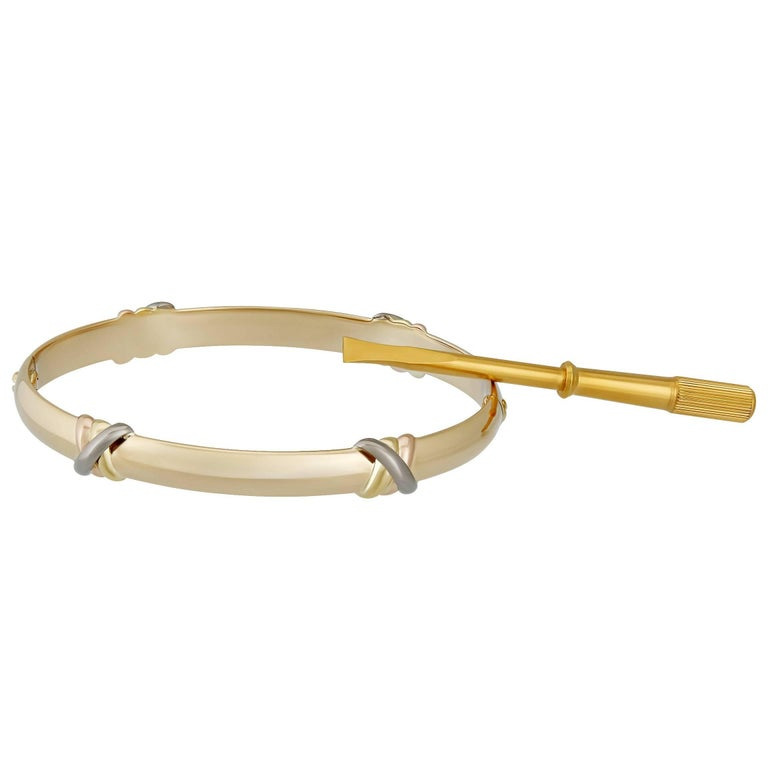 Cartier Tri-Color Gold Love Trinity Bangle 1