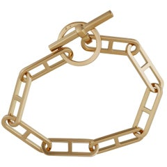 Hermes Gold Toggle Bracelet