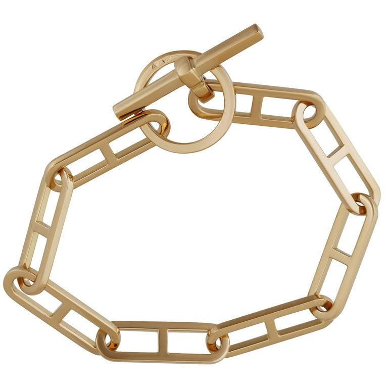 Hermes Gold Toggle Bracelet