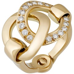 Hermes Diamond Gold Ring