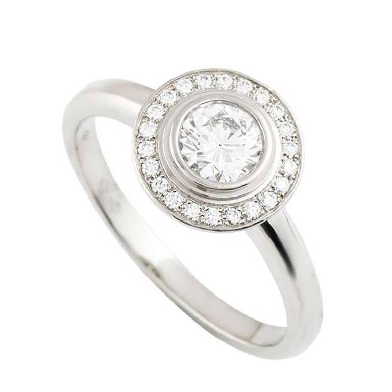 Cartier D Amour Diamond Platinum Ring At 1stdibs