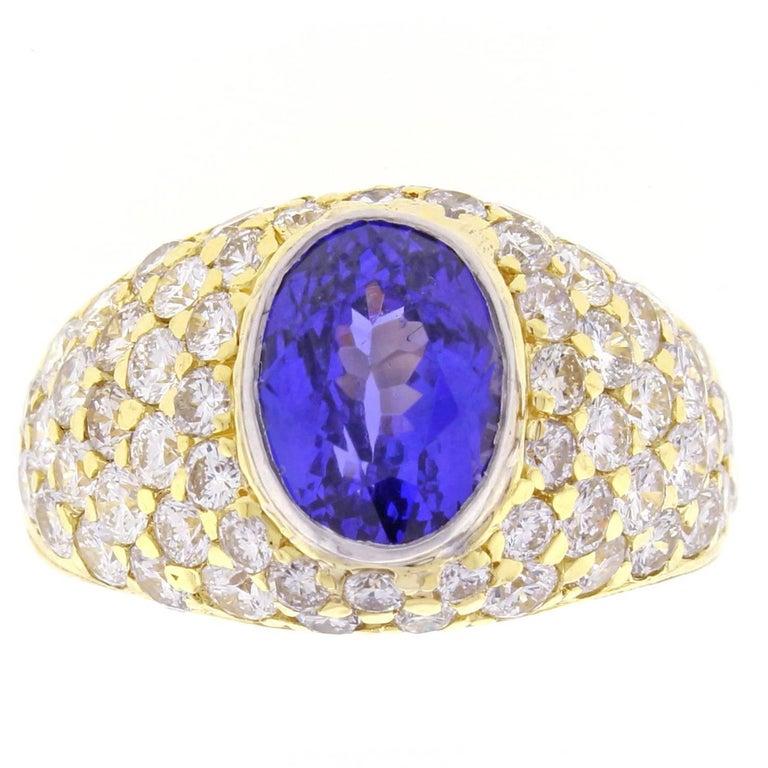 Tiffany & Co. Tanzanite and Diamond Ring For Sale