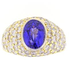 Tiffany & Co. Tanzanite and Diamond Ring