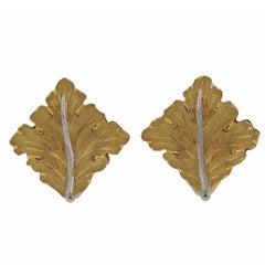 Classic Buccellati Gold Leaf Earrings
