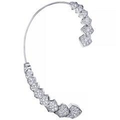 Akillis Python Earcuff 18 Karat White Gold White Diamonds