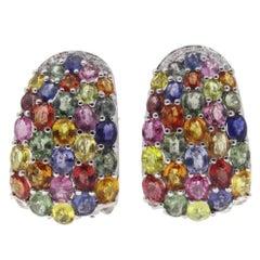 Luise Gold Diamond Sapphire Earring