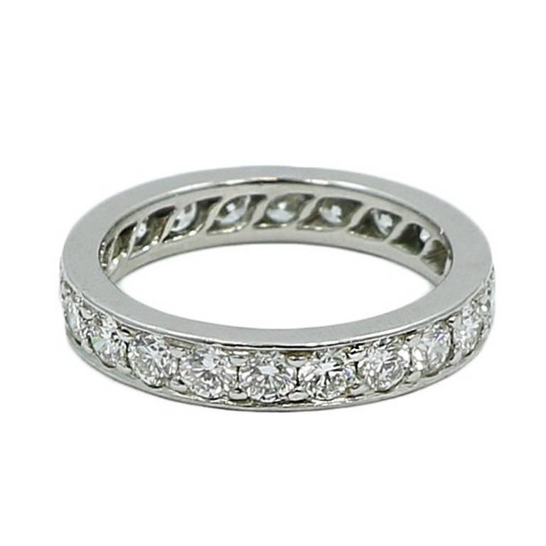 Cartier Infinity Bracelet: Cartier Diamond Platinum Eternity Band For Sale At 1stdibs